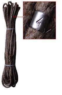 Kehrleine, natur, 20 m, mit Meterangabe,