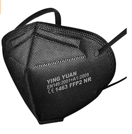 Atemschutzmaske FFP2 gefaltet - 20 Stück- schwarz