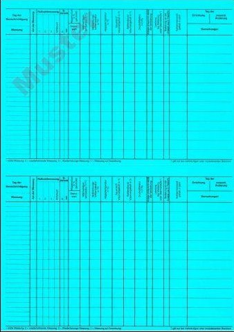 Karteikarten, blau, Einzelblatt, DIN A5