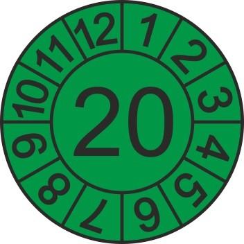 Jahreszahl-Etiketten (1000 Stk.), Jahr 2020