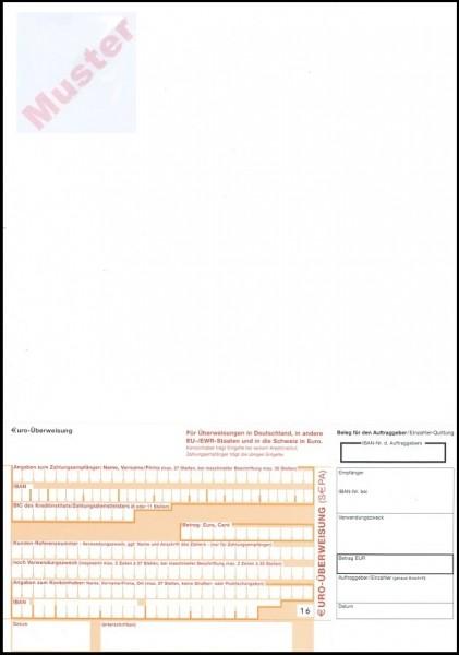 Rechnung mit 1 Überweisungsträger SEPA