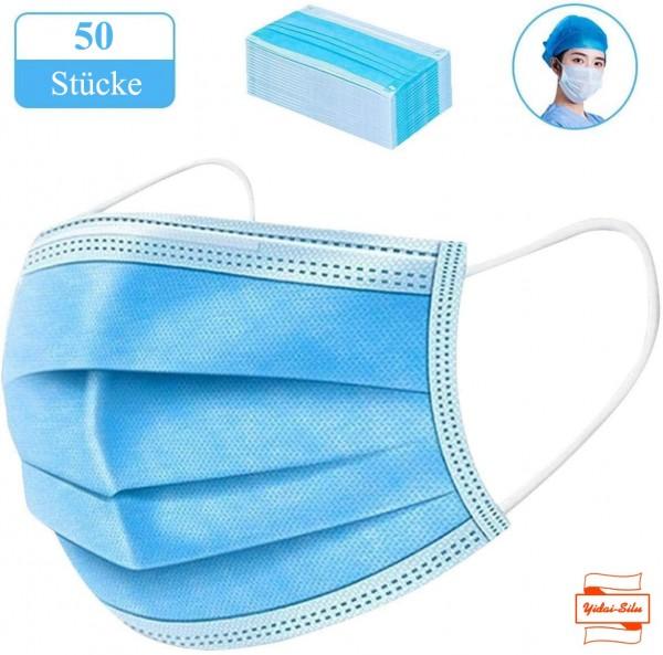 Mundschutz 3-lagig , MNS Atemschutz Einweg Maske Hygieneschutz