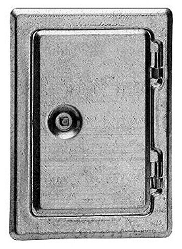 Kamintür, verzinkt, Vierkantv., 25x30 cm