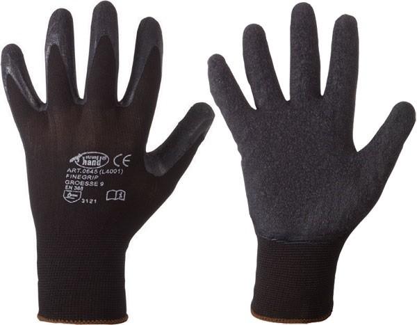 Nylon - Latex - Handschuhe Finegrip 12 Paar Gr.8