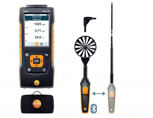 testo 440 delta P Strömungs-KombiSet 1 mit Bluetooth®