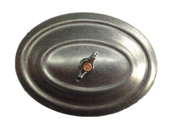 Rauchrohrdeckel 100-110 mm verzinkt