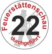 """Jahreszahl - Etiketten """"2022"""" """"Feuerstättenschau durchgeführt"""""""