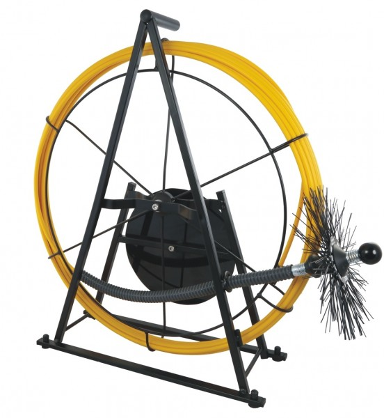 Edelstahl-Haspel Ø 9,5 mm GFK-Stange, 30 Meter