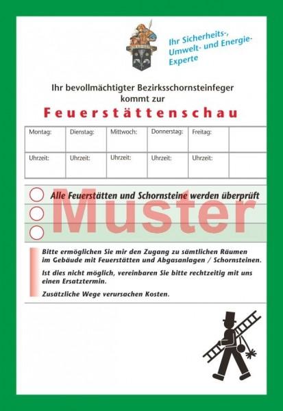"AZ ""Feuerstättenschau"" - DIN A6, ""Florian"", mit Streifengummierung"