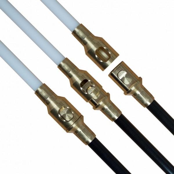 Kehrstange mit Klick-Verschluss Ø 12 mm - 1 m, weiß