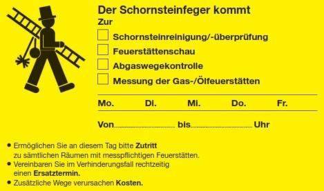 Ansagezettel DIN A 6, schmal, gelb, mit Klebestreifen