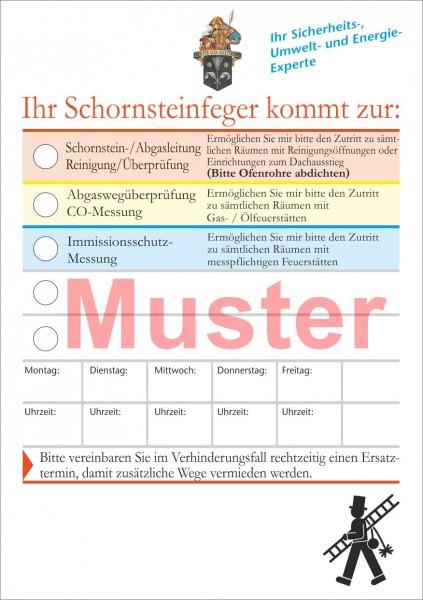 """Ansagezettel """"privatwirtschaftl."""" - DIN A5, """"Florian"""""""