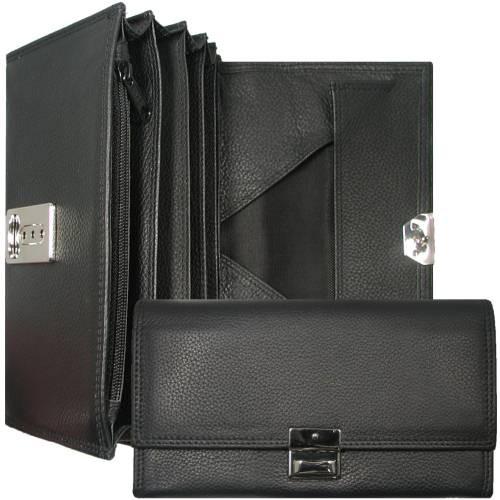 Brieftasche, Leder, mit Reißverschluß