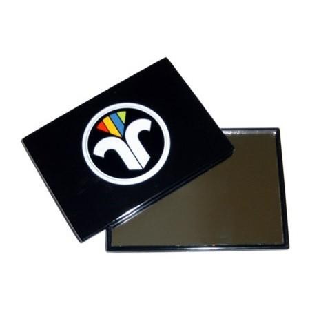 Glas-Taschenspiegel mit Emblem