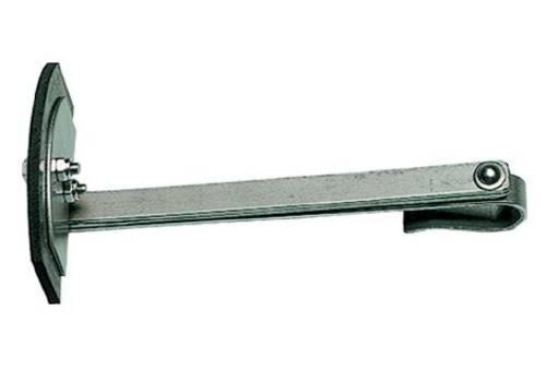 Krätzer, halbrund, mit Gummiblatt 130 mm, 60 cm lang VA