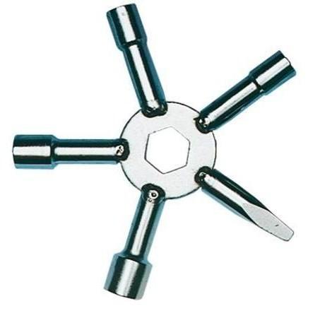 Sternschlüssel Stahl, 5-fach