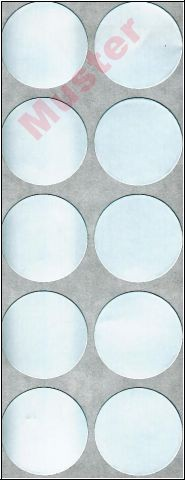 Alufolienaufkleber, 30 mm (1000 Stk. )