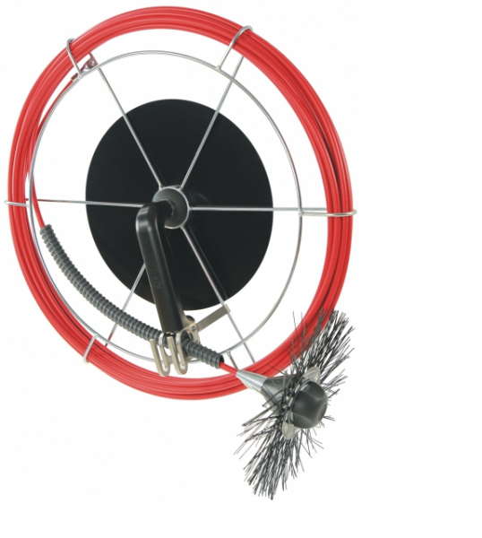 Handhaspel Edelstahl, pulverbeschichtet Ø 7,5 mm, 15 m