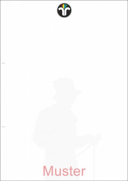 Geschäftsdruck 1-fach, weiß, Einzelblatt